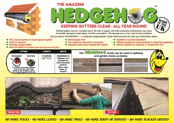 Hedgehog Gutter Guard Brochure