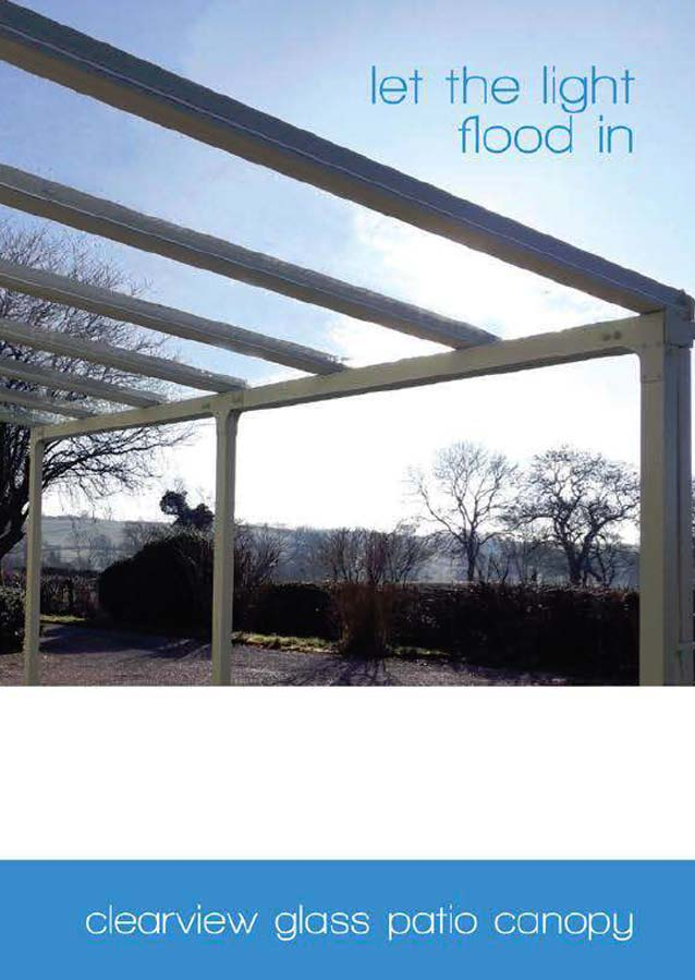 Clearview Glass Patio Canopy