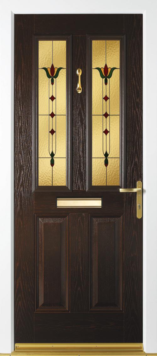 Composite Door 4 Resin Fleur Rosewood & Composite door collection from Suffolk based Falcon Windows