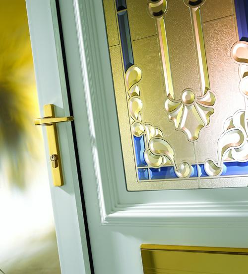 Rockingham Blue Crystal Aurora & Hurst Definitive Door Glass Collection