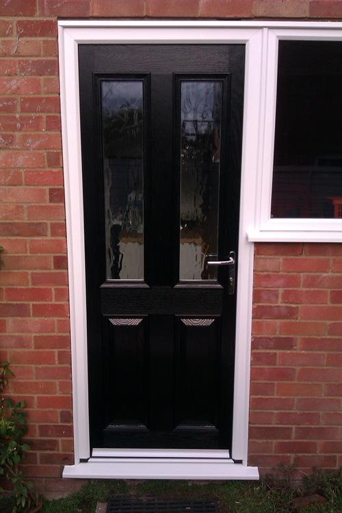 A Composite Door Recently Installed As A Back Door With Side Window