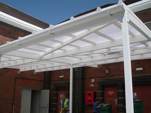 Falcon windows the quality choice for car ports in Low pitched roof