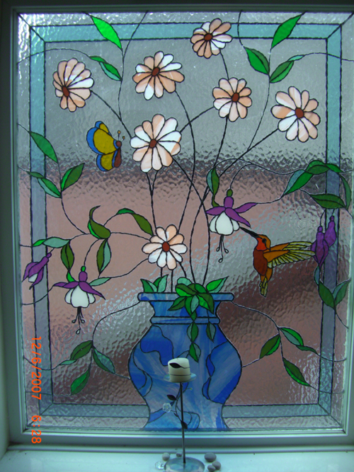 Coloured And Etched Glass For Windows, Window Color Glass Design