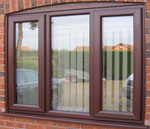 Rosewood Frame Window